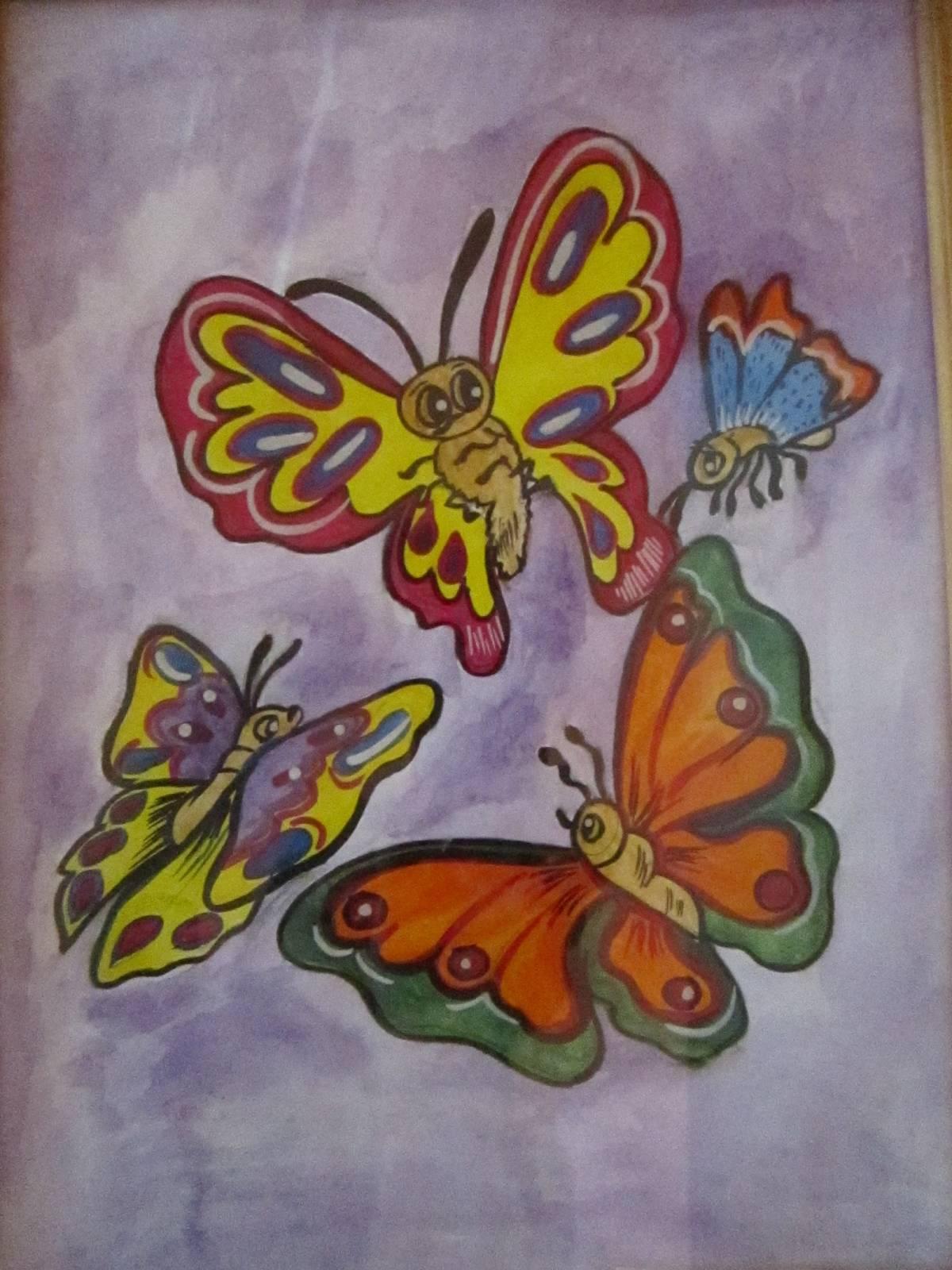 Нарисовать бабочку своими руками фото